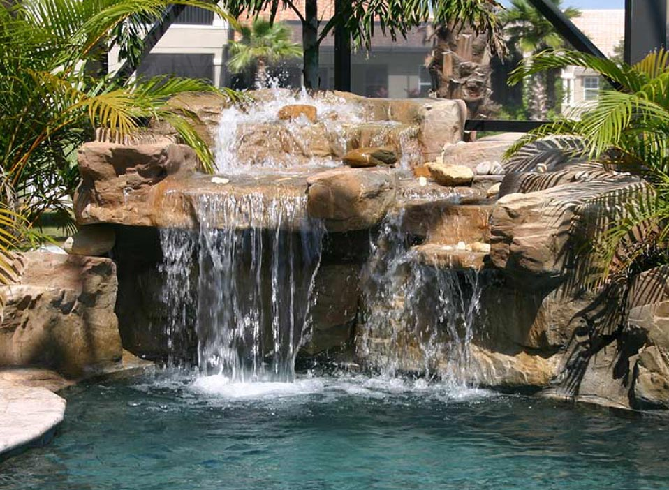 Waterfalls Pool Features And Rock Formations Sarasota